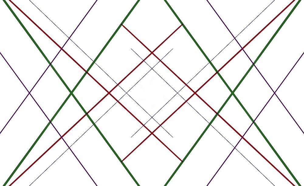Geometric line print by ncprice23