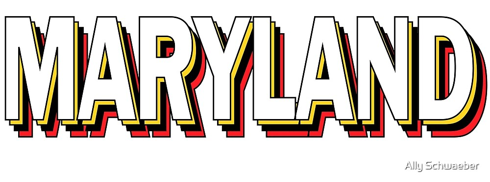 Maryland Stacked Letters by Ally Schwaeber