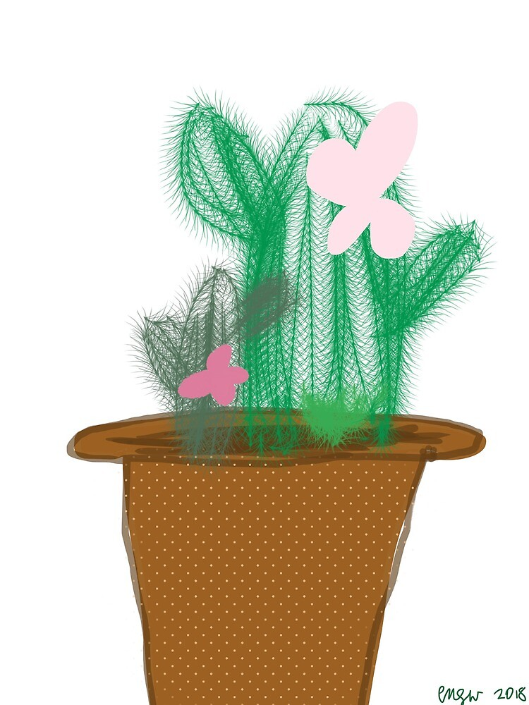 Potted Cactus by CrazyDogLover12