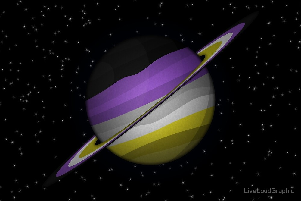 Non-Binary Planet by LiveLoudGraphic