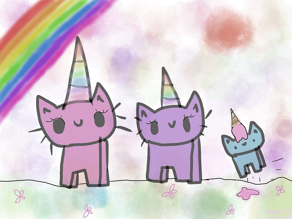 The three unikitties actually..... by CrazyDogLover12