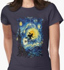 Halloween Flying Young Wizzard with broom T-Shirt