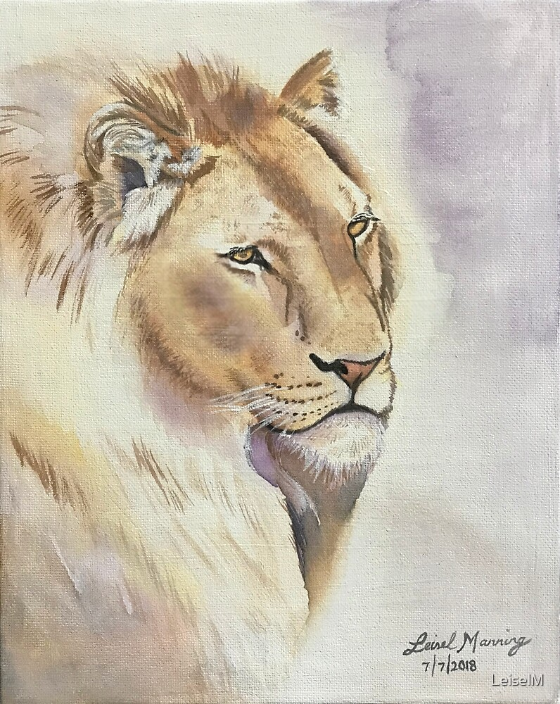 King of the savannah, lion by LeiselM