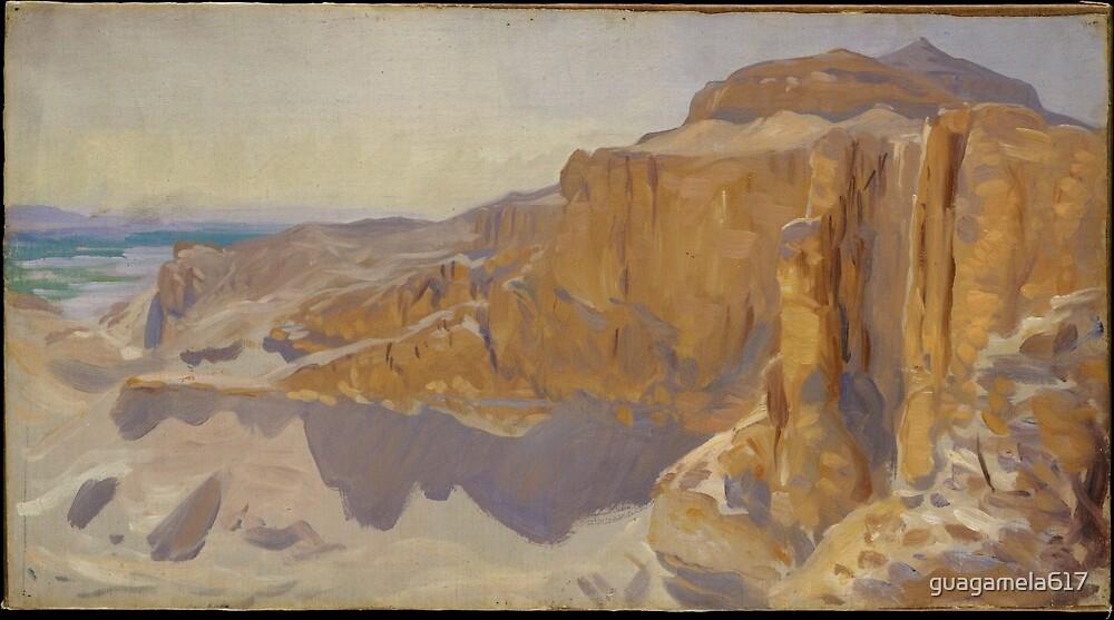 Cliffs at Deir el Bahri, Egypt by guagamela617