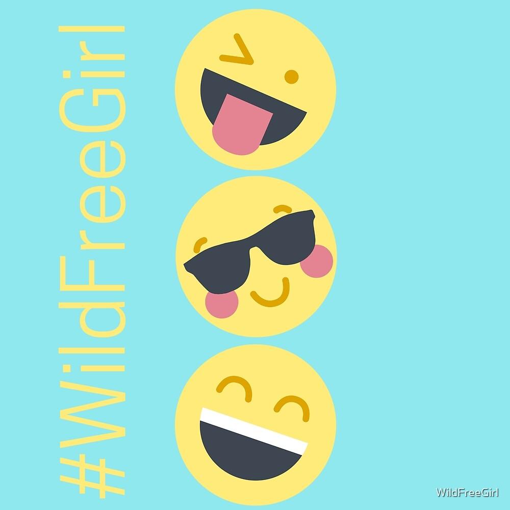 Wild Free Girl Emojis by WildFreeGirl