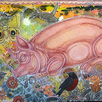 Dreaming Pig by LynnetteShelley