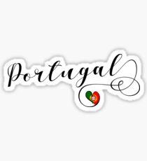 Heart Portugal, I Love Portugal, Portuguese Flag Sticker