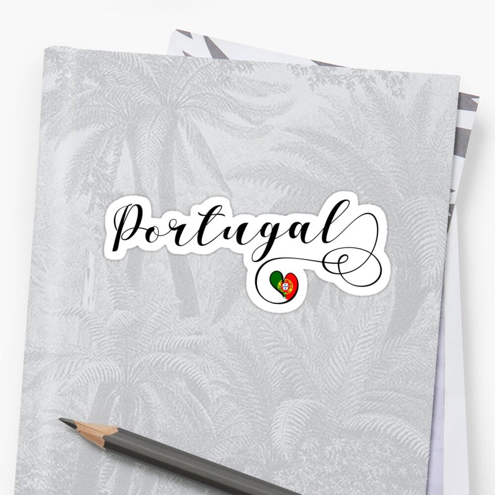 Heart Portugal, I Love Portugal, Portuguese Flag by Celticana