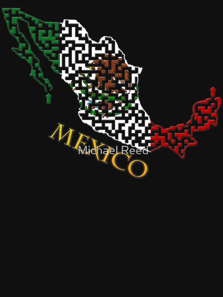 Mexico Outline Maze & Labyrinth by gorff