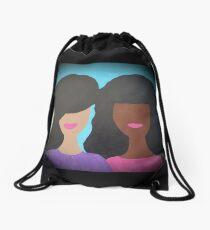 Tia and Tamera Drawstring Bag