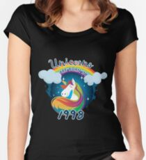 Unicorns are born in 1998 / Einhorn Women's Fitted Scoop T-Shirt