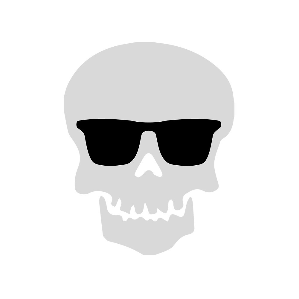 Cool Skull Wearing Sunglasses by TheMiddleWest
