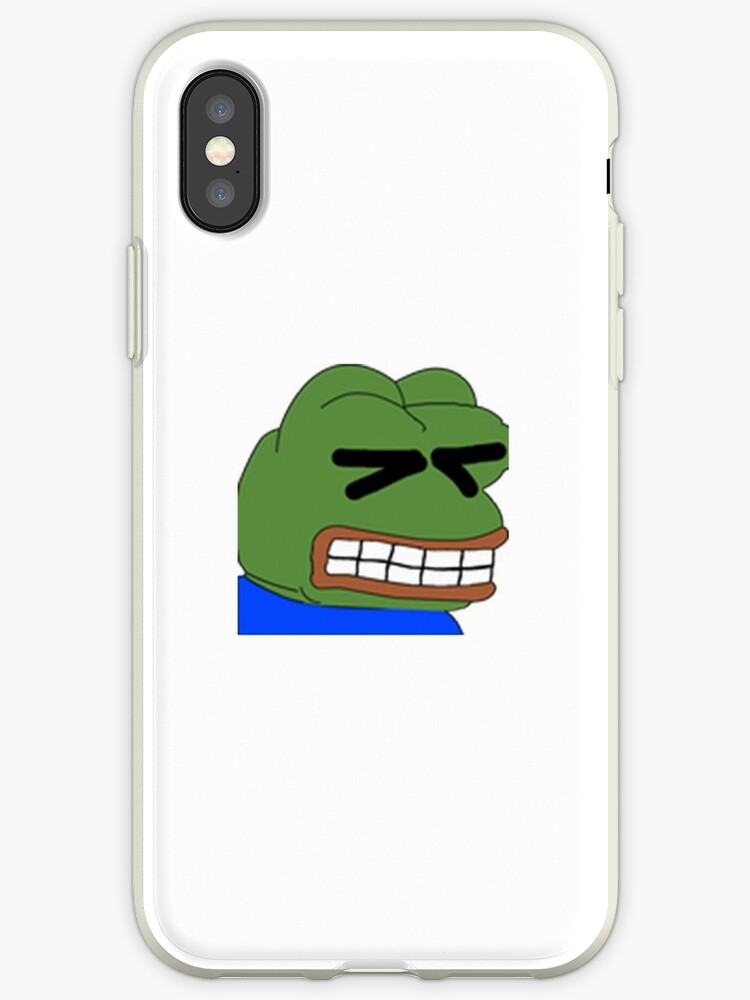 'Pepepains Twitch Emote' iPhone Case by mattysus