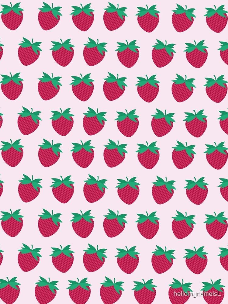 Pink strawberries  by hellomynameisL