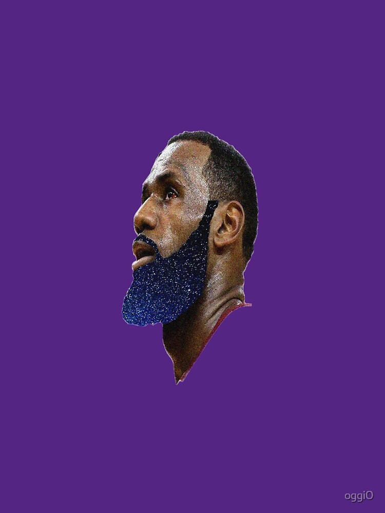 LeBron James Space Beard King of the Lakers by oggi0