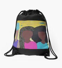 Sister Sister Drawstring Bag