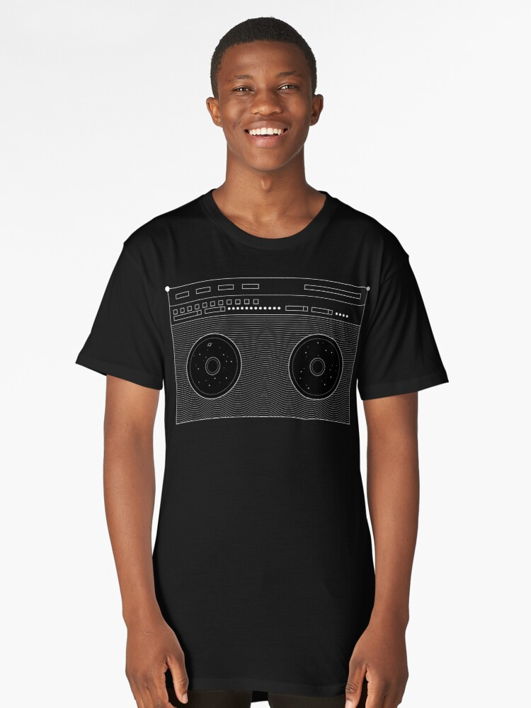Space Boombox Long T-Shirt Front