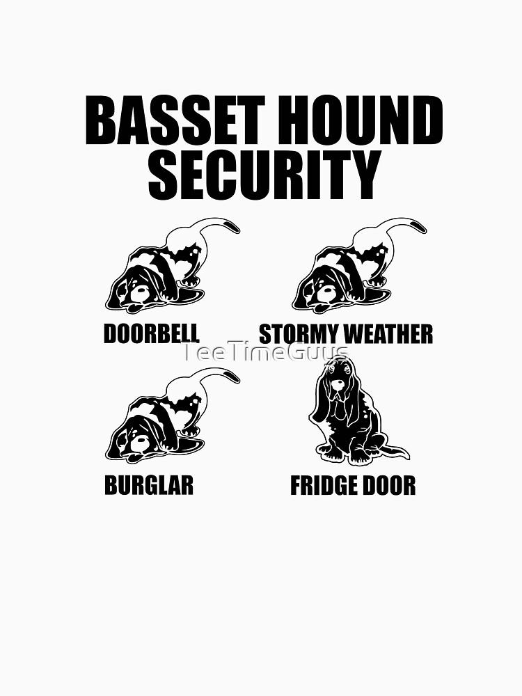 Basset Hound Security  by TeeTimeGuys