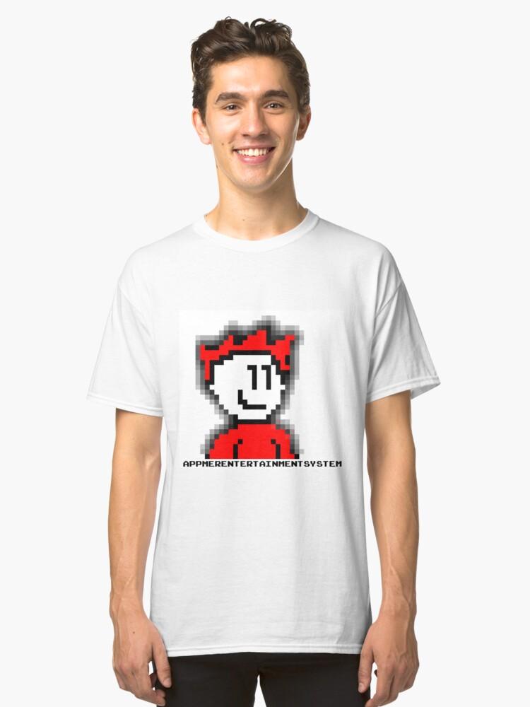8-Bit Angel (AppmerEntertainmentSystem) Classic T-Shirt Front