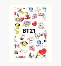 BT21 Merch Art Print