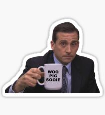 Woo Pig Sooie Arkansas Michael Scott Sticker
