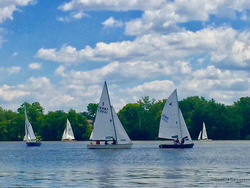 Sailing on a Sunday Afternoon by Cathy Green