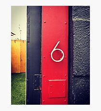 Number 6 Photographic Print