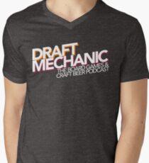 Draft Mechanic Logo Men's V-Neck T-Shirt