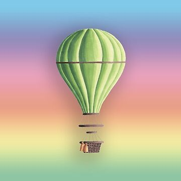 Hot Air Balloon Sticker Rainbow Sky by orylinapparel