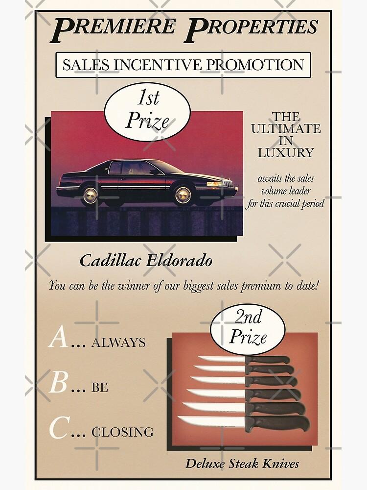 Glengarry Glen Ross Sales Poster by typeo