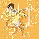 Honey Bell Curly Text by Kiara Williams
