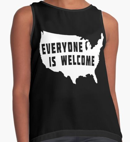 USA Everyone Is Welcome Contrast Tank