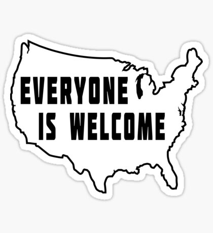 USA Everyone Is Welcome Sticker