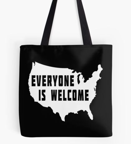 USA Everyone Is Welcome Tote Bag