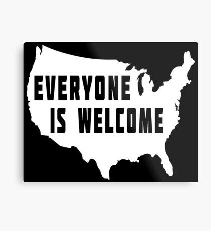 USA Everyone Is Welcome Metal Print