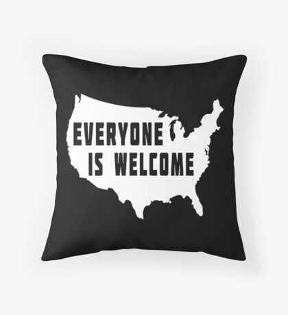 USA Everyone Is Welcome Floor Pillow