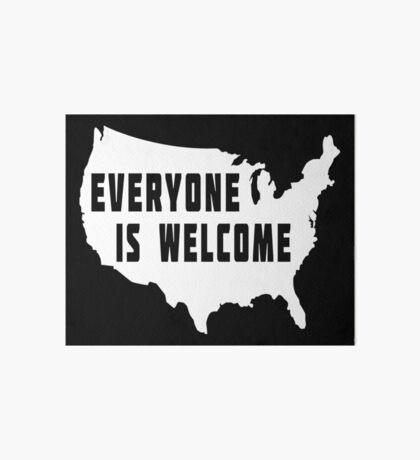 USA Everyone Is Welcome Art Board
