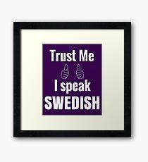 Funny Swedish Shirt Gift For Men Women Kids Framed Print