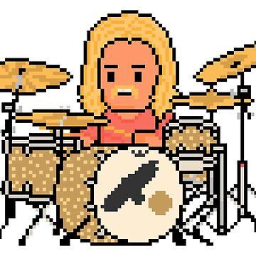 Rock Battle A Pixel Drummer Not a Fighter by gkillerb