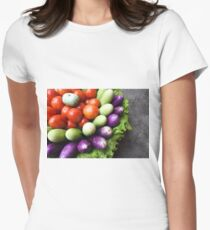 fresh raw vegetables  Women's Fitted T-Shirt