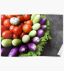 fresh raw vegetables  Poster