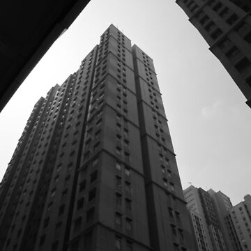 skyscrapers high-rise buildings in bw by noegrr