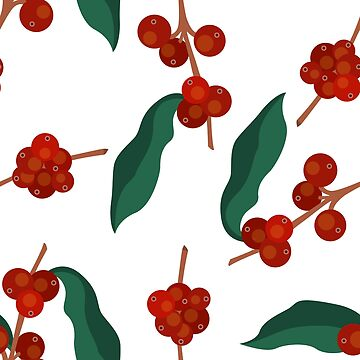 coffee tree seamless pattern by zizimentos