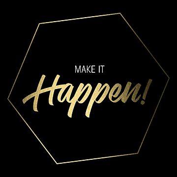 Inspiring Gift for Entrepreneurs #3 - Gold on Black by SKKSdesign