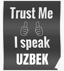 Funny Uzbek Gift Shirt For Men Women Kids Poster