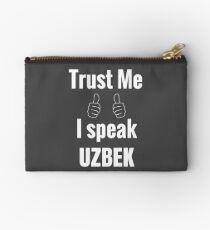 Funny Uzbek Gift Shirt For Men Women Kids Studio Pouch