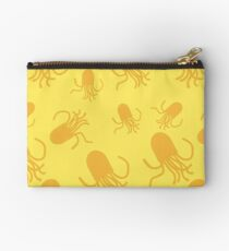 Octopus pattern. Yellow and gold Studio Pouch