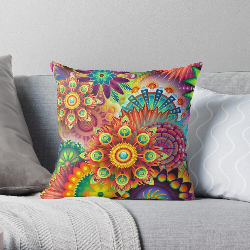 Farbenfroh - Abstrakt Dekokissen