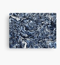 Navy Blue Nature Abstract Pattern Canvas Print