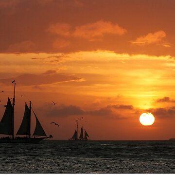 Sunset Sail in Key West III by zuluspice